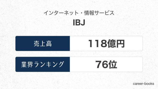 IBJの売上高・業績