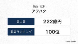 アヲハタの売上高・業績