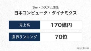 日本コンピュータ・ダイナミクスの売上高・業績