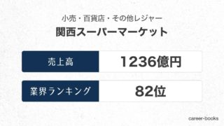 関西スーパーマーケットの売上高・業績