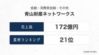 青山財産ネットワークスの売上高・業績