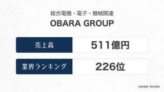 OBARA-GROUPの売上高・業績