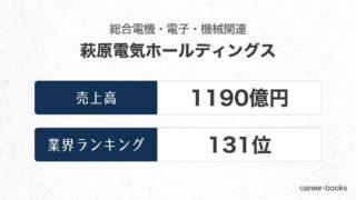 萩原電気ホールディングスの売上高・業績