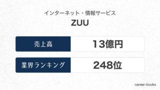 ZUUの売上高・業績