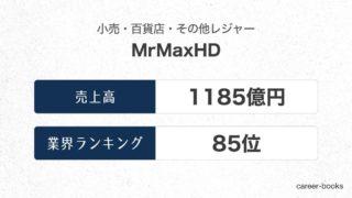 MrMaxHDの売上高・業績
