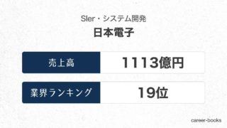 日本電子の売上高・業績