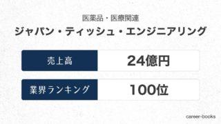 ジャパン・ティッシュ・エンジニアリングの売上高・業績
