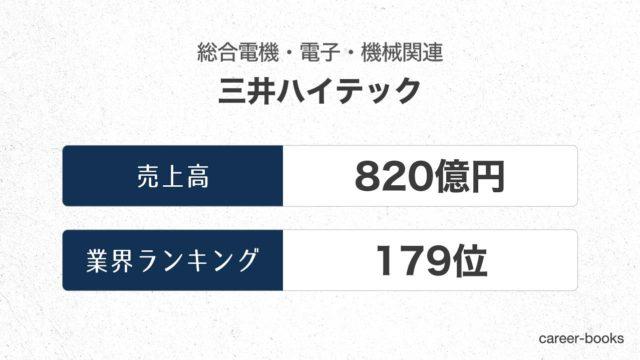 三井ハイテックの売上高・業績