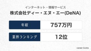 株式会社ディー・エヌ・エー(DeNA)の年収情報・業界ランキング