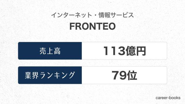 FRONTEOの売上高・業績