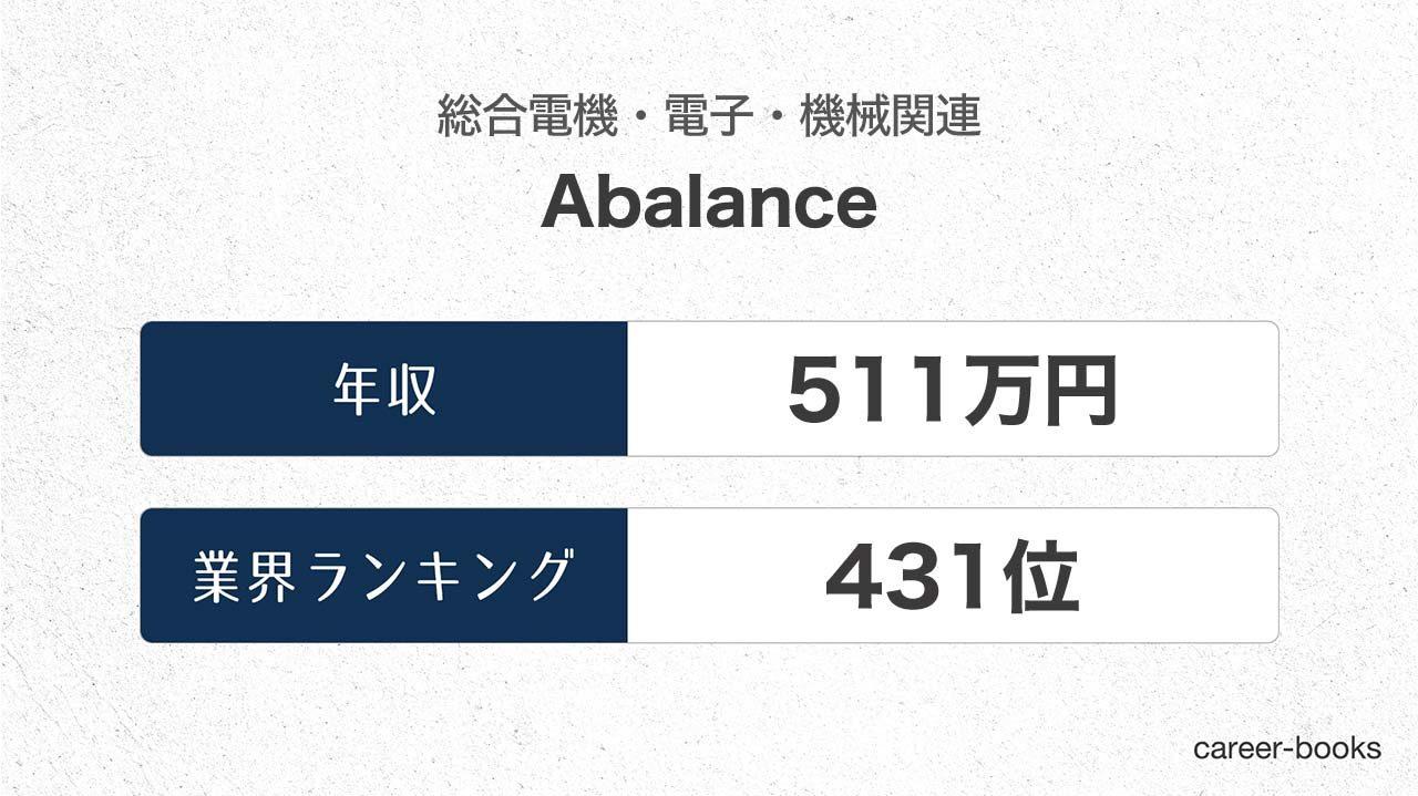 Abalanceの年収情報・業界ランキング