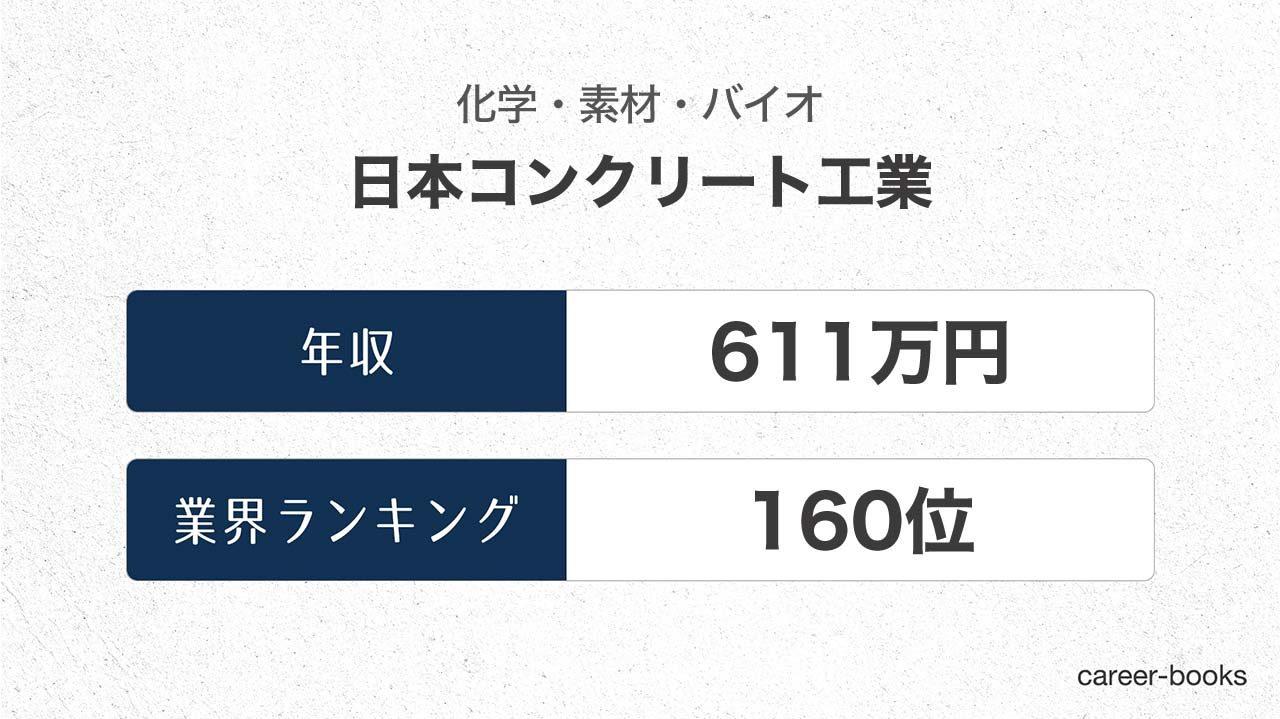 日本コンクリート工業の年収情報・業界ランキング