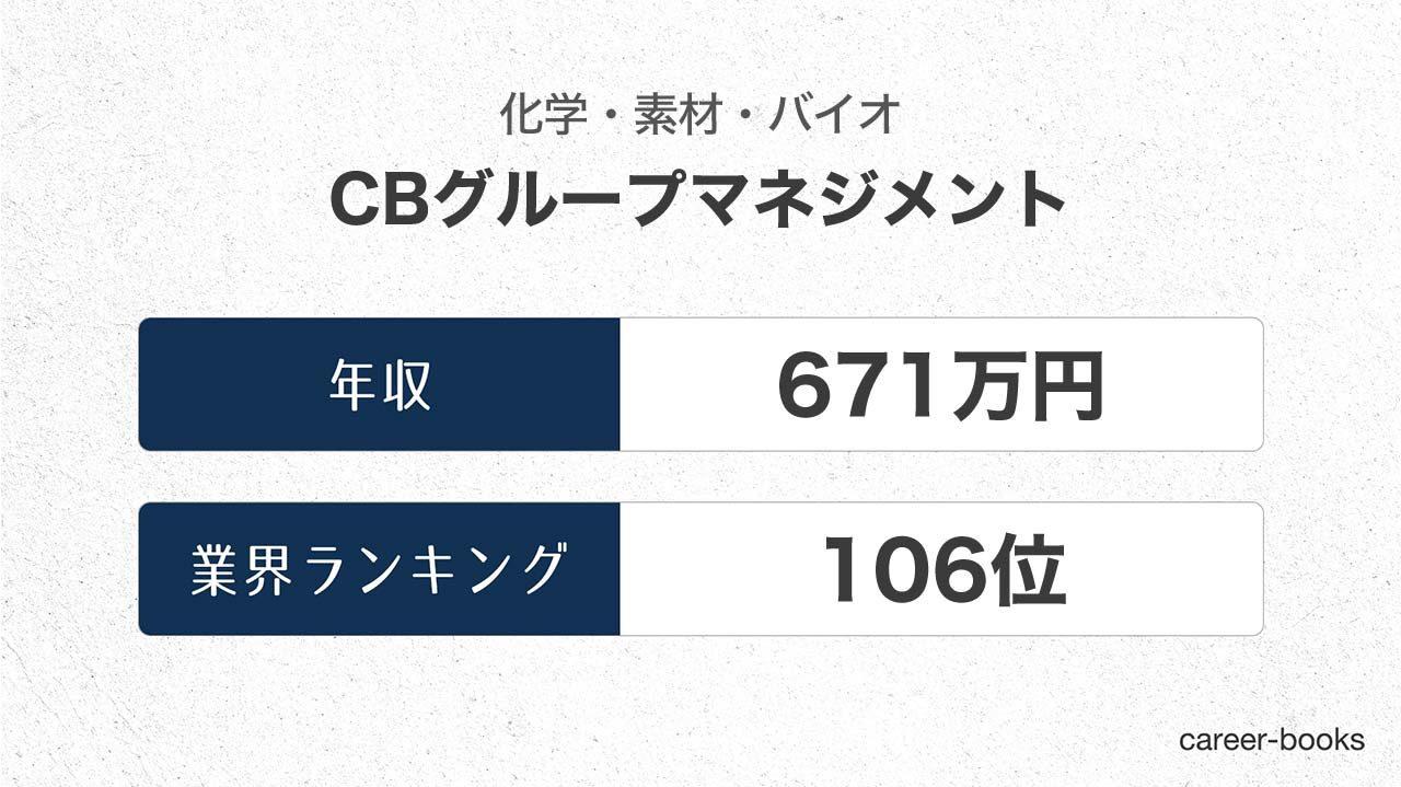 CBグループマネジメントの年収情報・業界ランキング