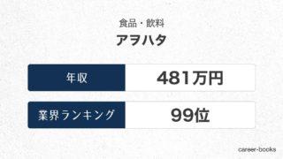 アヲハタの年収情報・業界ランキング