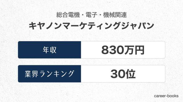 キヤノンマーケティングジャパンの年収情報・業界ランキング