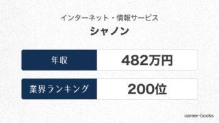 シャノンの年収情報・業界ランキング