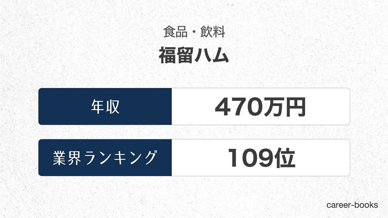福留ハムの年収情報・業界ランキング