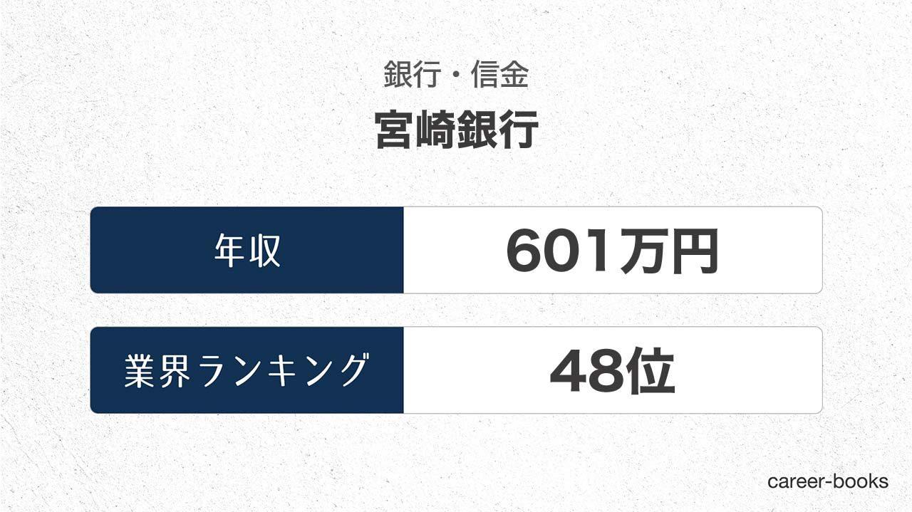 宮崎銀行の年収情報・業界ランキング