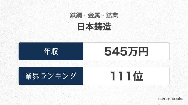 日本鋳造の年収情報・業界ランキング