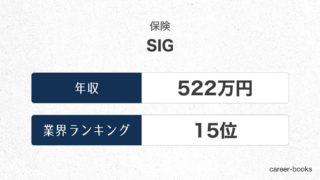 SIGの年収情報・業界ランキング