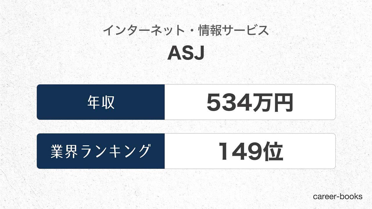 ASJの年収情報・業界ランキング