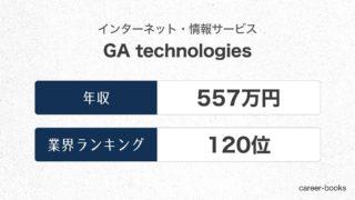 GA technologiesの年収情報・業界ランキング