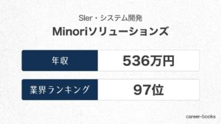 Minoriソリューションズの年収情報・業界ランキング