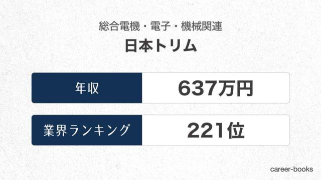 日本トリムの年収情報・業界ランキング