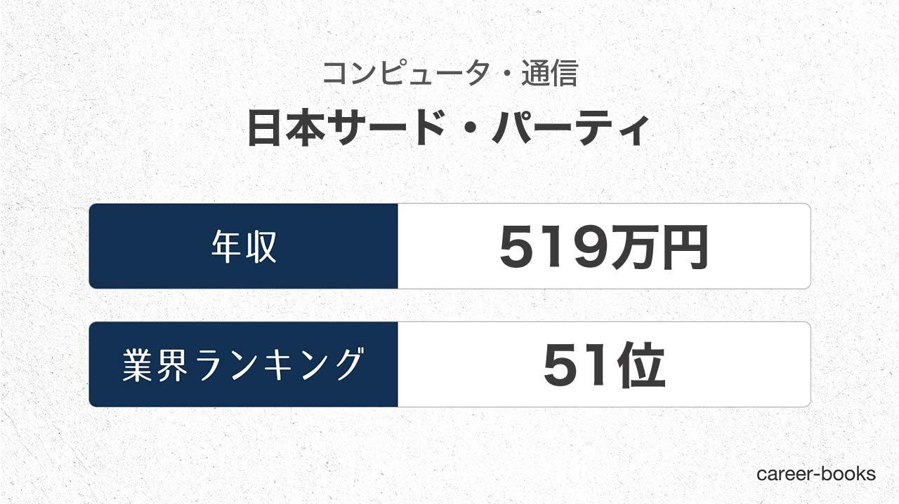 日本サード・パーティの年収情報・業界ランキング