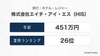 株式会社エイチ・アイ・エス(HIS)の年収情報・業界ランキング