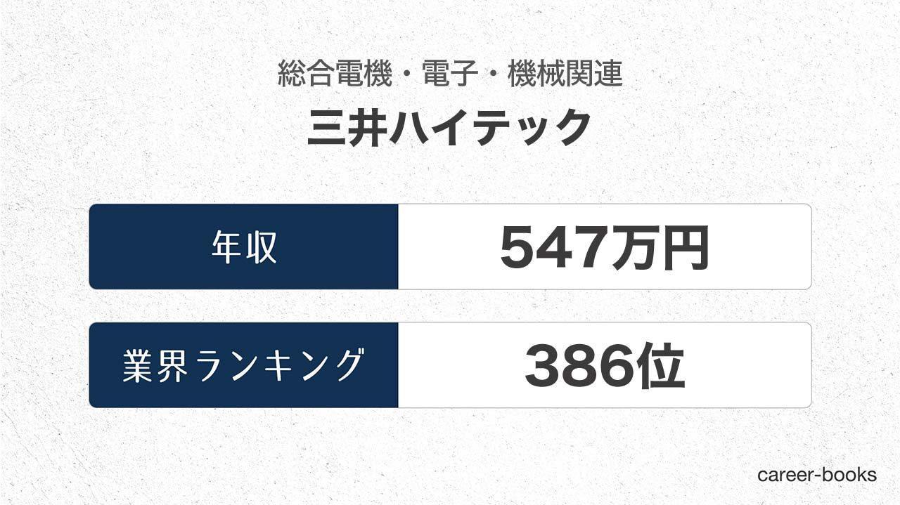三井ハイテックの年収情報・業界ランキング