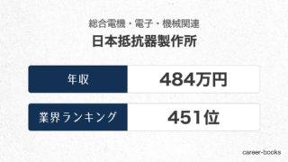 日本抵抗器製作所の年収情報・業界ランキング
