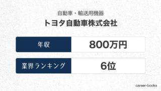 トヨタ自動車株式会社の年収情報・業界ランキング
